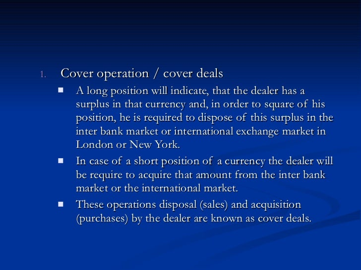 Forex dealing room operations