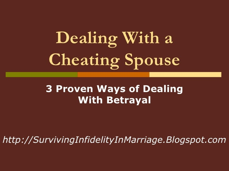 How to cope with cheating