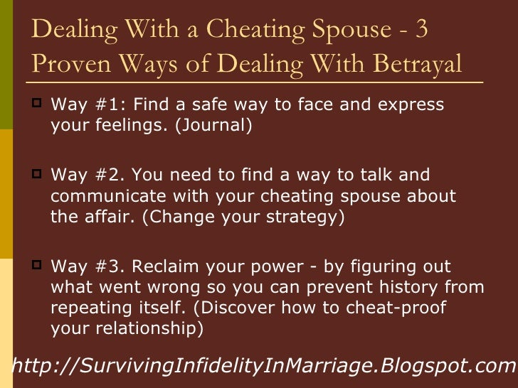 How To Cope With Cheating Wife