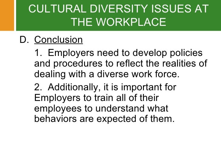 Understanding diversity a cultural problem