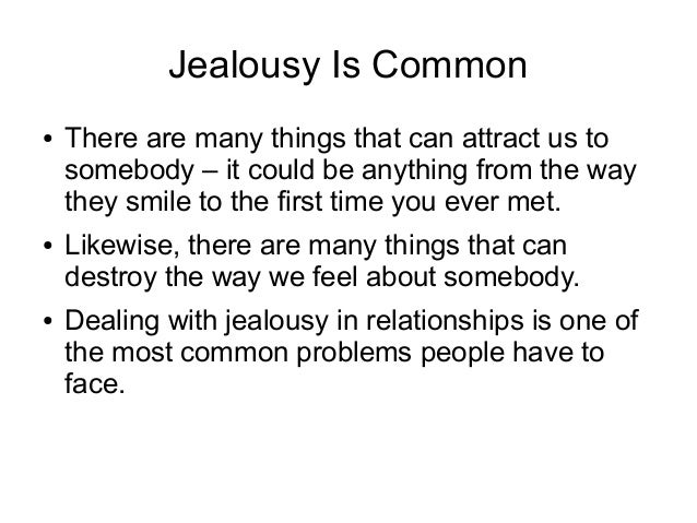 Dealing with jealousy in relationships