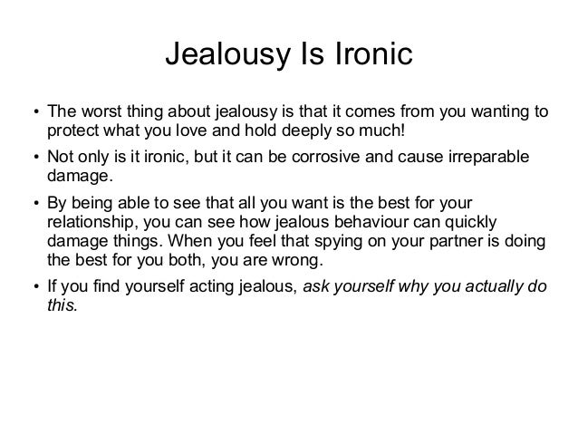 How to get over being jealous in a relationship