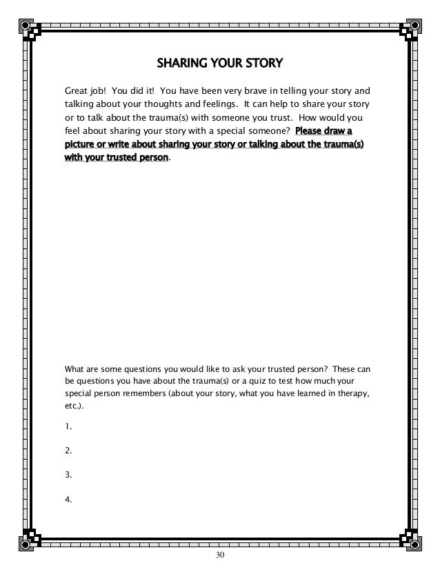 Trauma Therapy Worksheets For Teens - beansmith.co