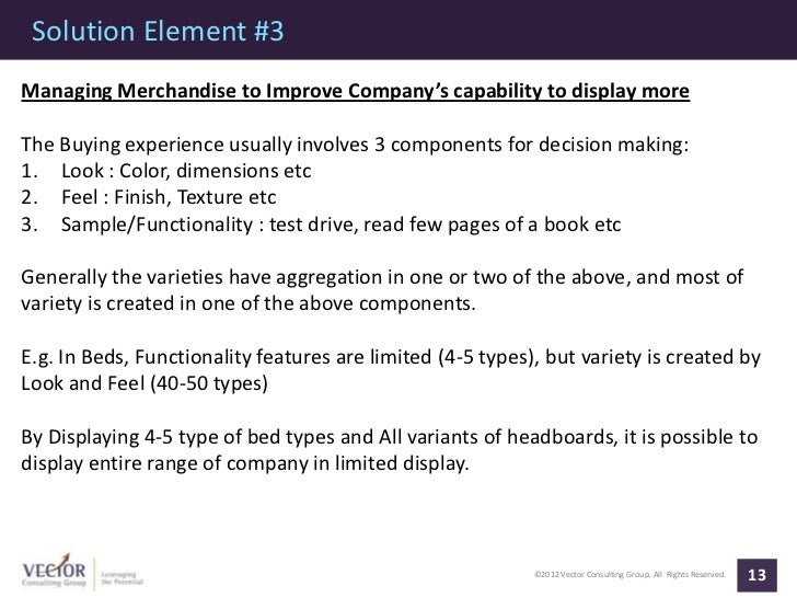 Solution Element #3Managing Merchandise to Improve Company's capability to display moreThe Buying experience usually invol...