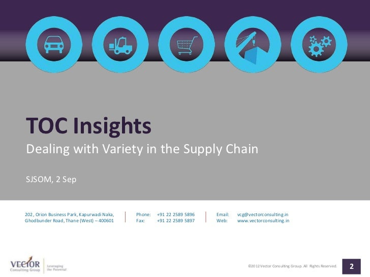 TOC InsightsDealing with Variety in the Supply ChainSJSOM, 2 Sep202, Orion Business Park, Kapurwadi Naka,   Phone:   +91 2...