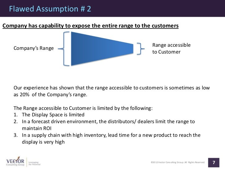 Flawed Assumption # 2Company has capability to expose the entire range to the customers                                   ...