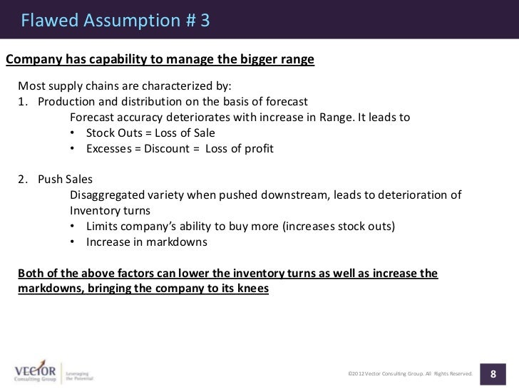 Flawed Assumption # 3Company has capability to manage the bigger range Most supply chains are characterized by: 1. Product...