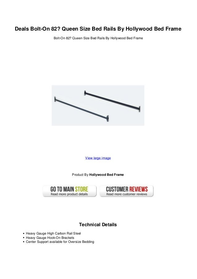 Deals Bolt On 82 Queen Size Bed Rails By Hollywood Bed Frame