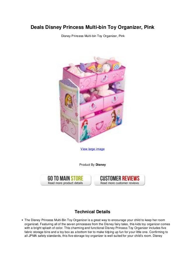 Deals Disney Princess Multi Bin Toy Organizer Pink