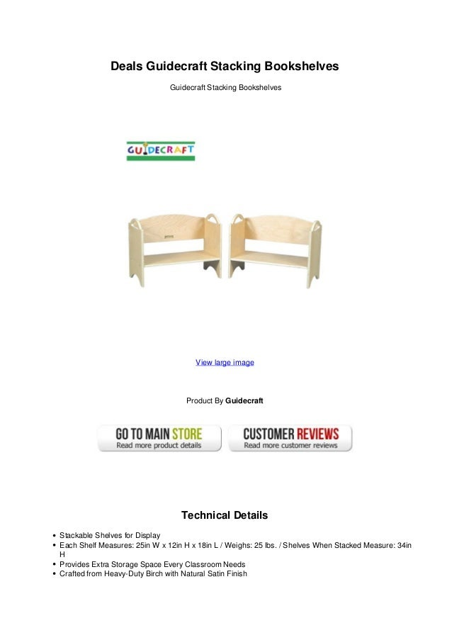 Deals Guidecraft Stacking BookshelvesGuidecraft BookshelvesView Large ImageProduct By GuidecraftTechnical Details