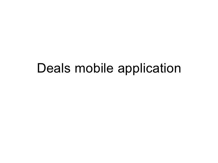 Deals mobile application