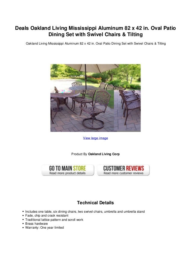 Deals Oakland Living Mississippi Aluminum 82 X 42 In Oval Patio Dini