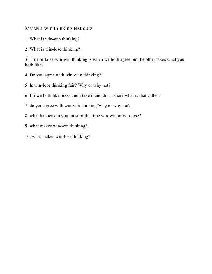 DeAndre's habit 4 quiz