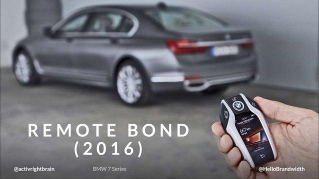 REMOTE BOND  (2016) :   @activrightbrain BMW 7 Series @HelloBrandwidth