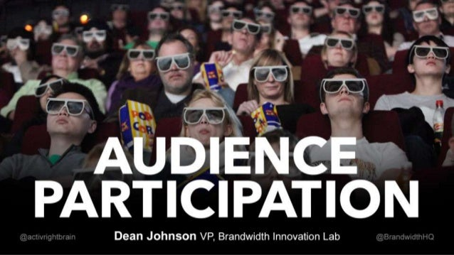 Wearable Technology: Audience Participation