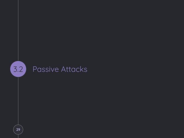 Passive Attacks3.2 29