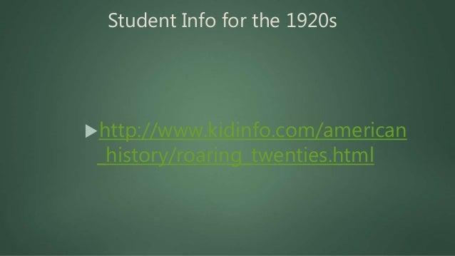 Roaring Twenties: Pop Culture https://www.youtube.com/watch? v=l-wIdv70II4