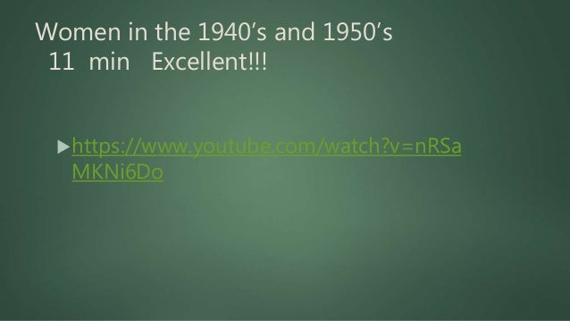 Snapshot of the Decades 1940's 9 min Excellent!!!  https://www.youtube.com/watch?v=Lx8is6lR6 NU