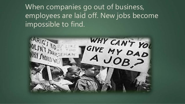 Class Discussion  When people lost their jobs were they able to collect unemployment insurance checks?  Could people go ...