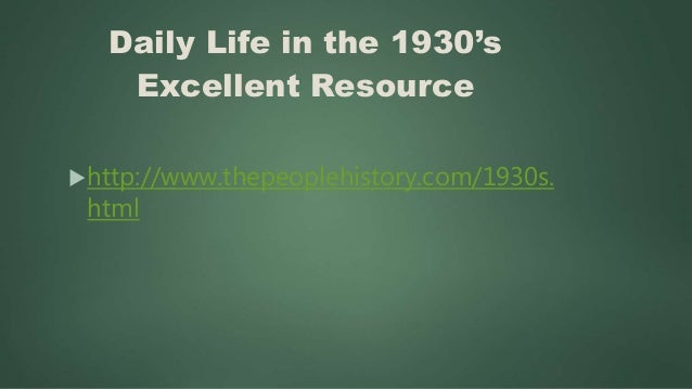 Over Fifty Video Clips of Life During the Great Depression http://www.bing.com/videos/search? q=Life+during+Great+Depress...