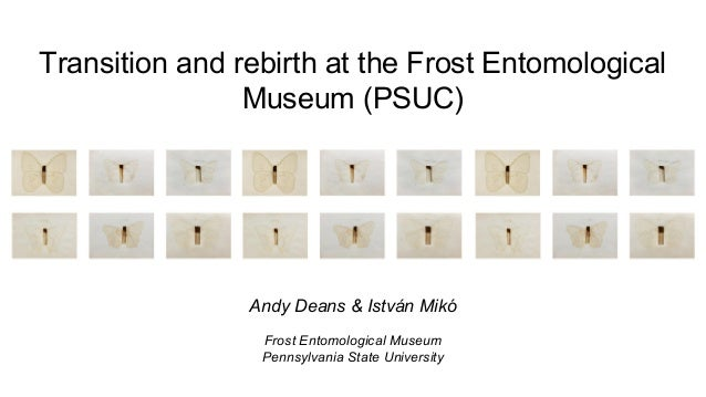 Transition and rebirth at the Frost Entomological Museum (PSUC)  Andy Deans & István Mikó Frost Entomological Museum Penns...