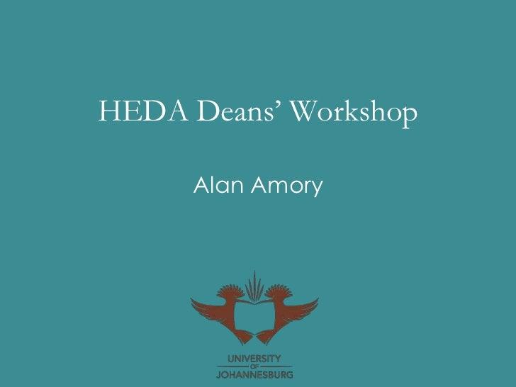HEDA Deans' Workshop     Alan Amory