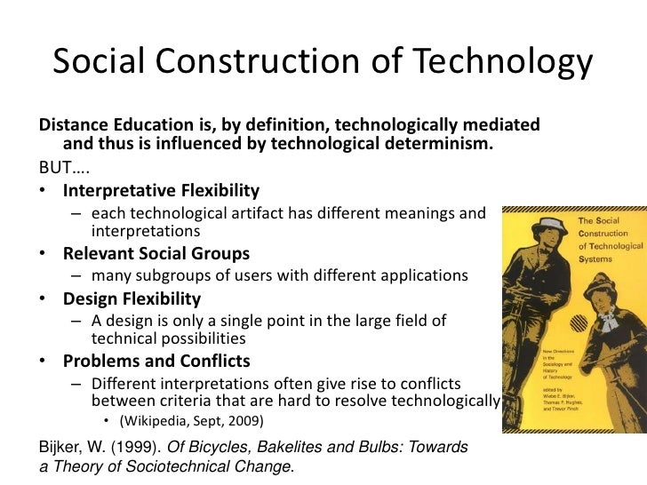 social construction of technology essay The essay, especially the final social construction of technology how technology could contribute to a.