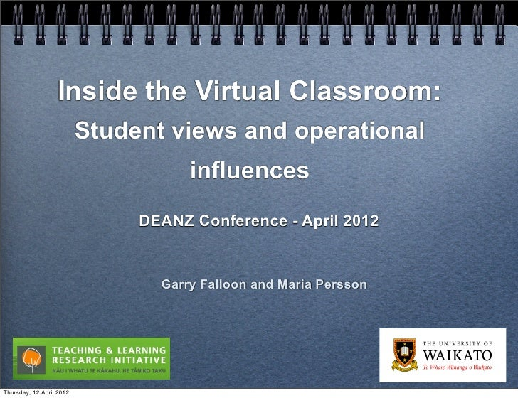 Inside the Virtual Classroom:                          Student views and operational                                     i...