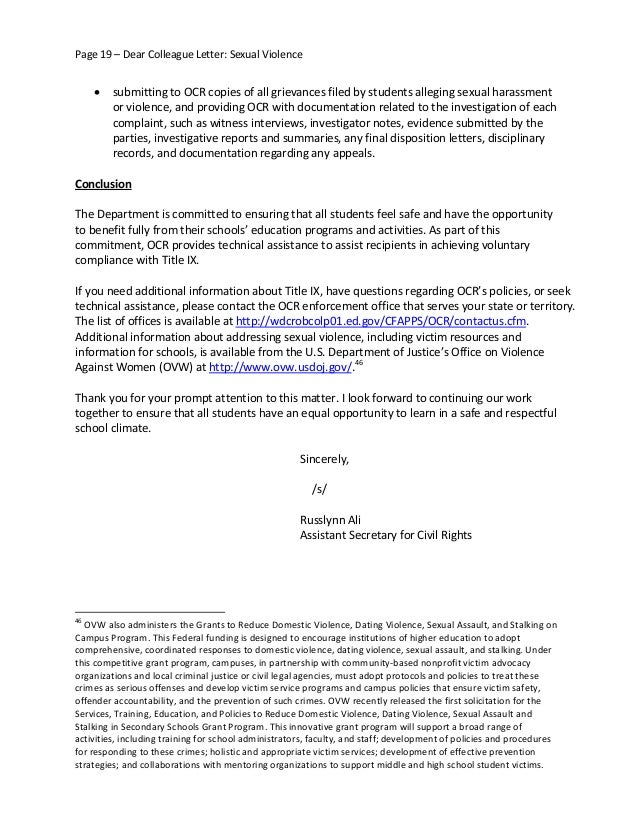 Employee sexual harassment warning letter