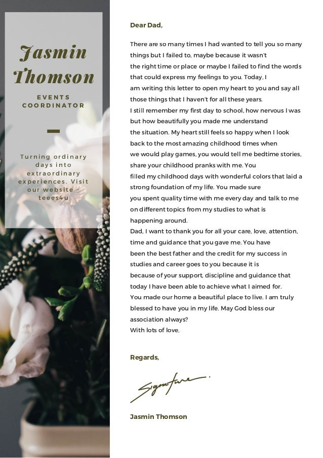 A Letter From A Daughter To Her Dear Dad 2017