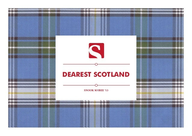 DEAREST SCOTLAND SNOOK SOIREE '13