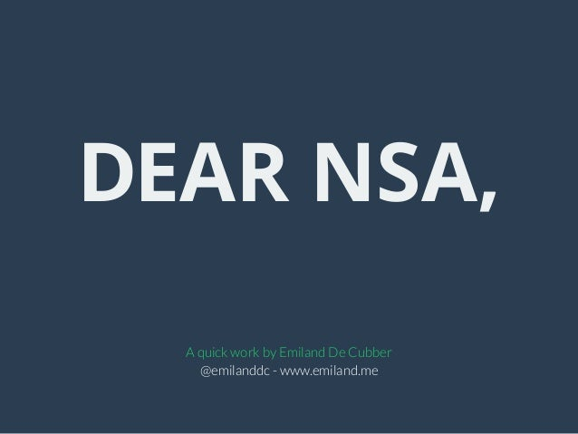 Looking for nsa meaning