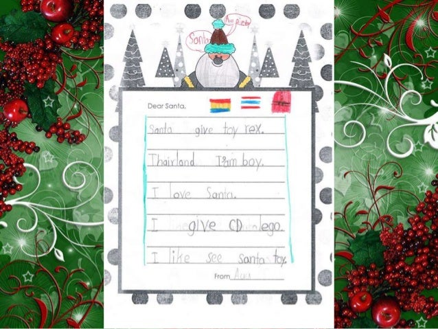 Letters to Santa from 1st Grade Thai Students Slide 3