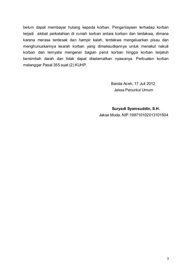 Deasy 2 Surat Dakwaan