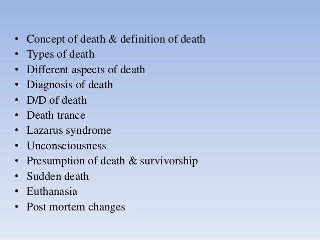 Death in Forensic Medicine Slide 2