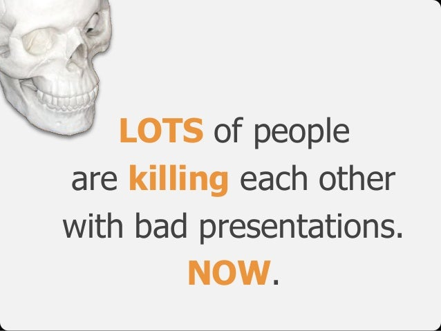 LOTS of people are killing each other