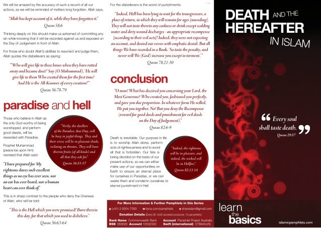 Death & the Hereafter in Islam