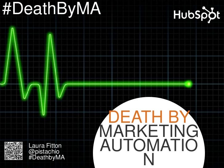 #DeathByMA                  DEATH BY                 MARKETING  Laura Fitton  @pistachio     AUTOMATIO  #DeathbyMA        ...