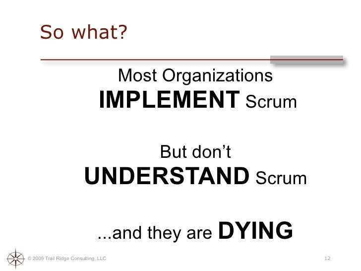 Death By Scrum Meeting 2009