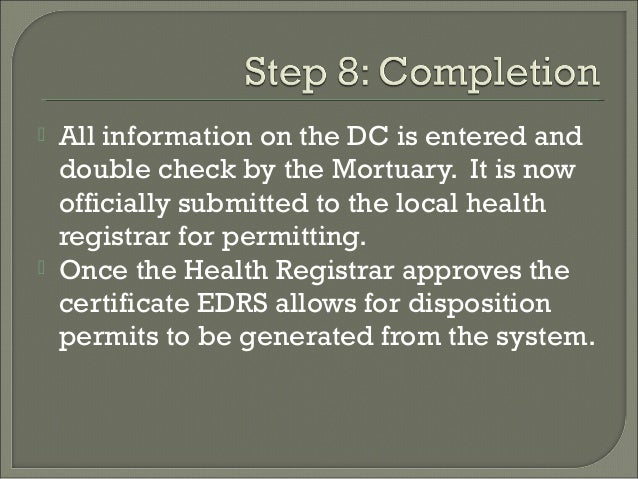 Procedures in Deathcare Certification within Los Angeles County