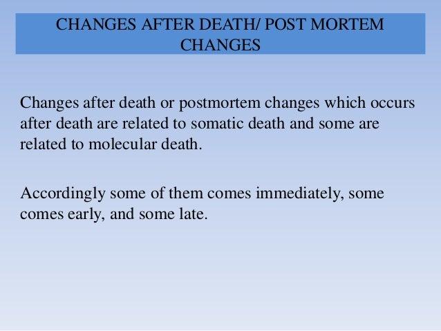 Death & changes after death Slide 2