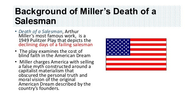 thesis statement about death of a salesman Willy loman in arthur miller's 'death of a salesman' is a complex and conflicted  character he finds himself at odds with his surroundings, his values, and even.