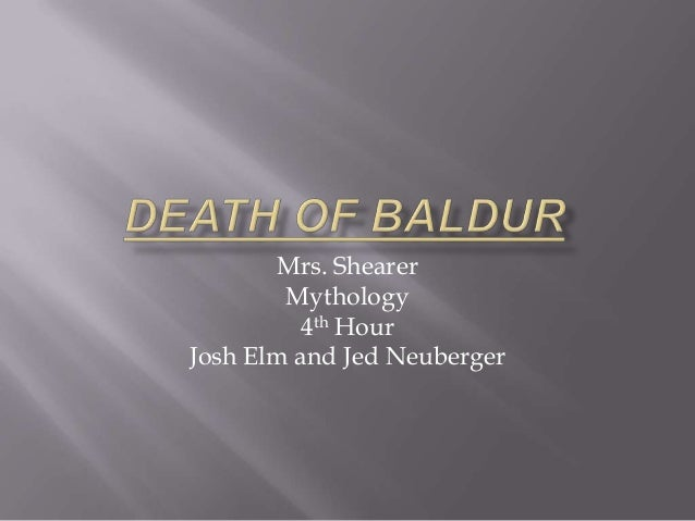 Mrs. Shearer Mythology 4th Hour Josh Elm and Jed Neuberger