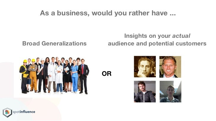 As a business, would you rather have ...                              Insights on your actualBroad Generalizations    audi...