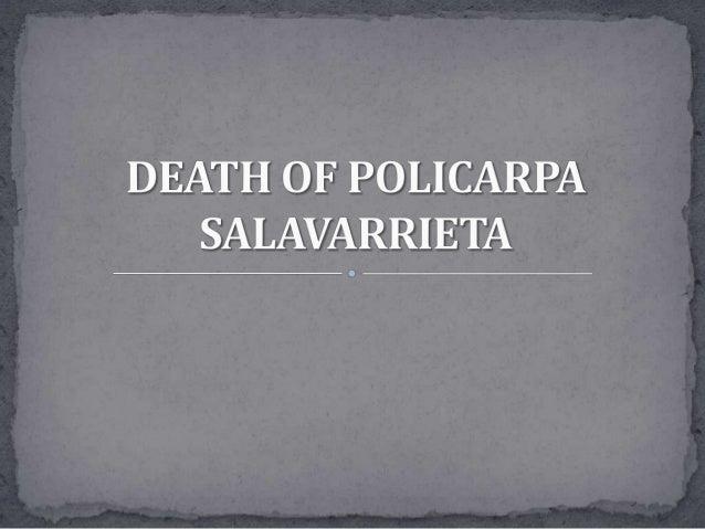 Death of Policarpa Salavarrieta