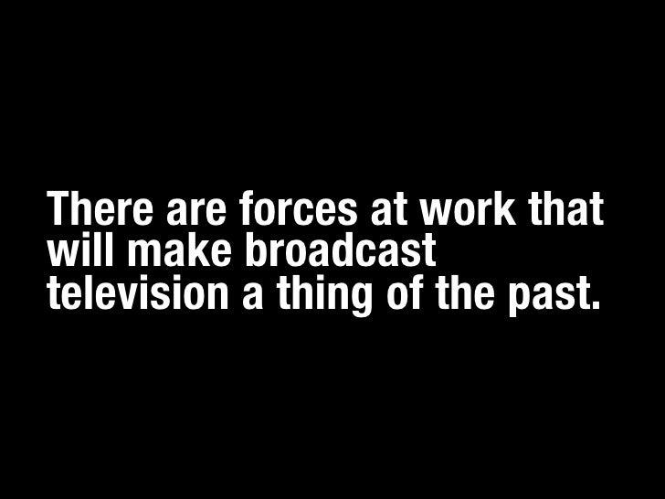 The Death of TV Slide 2