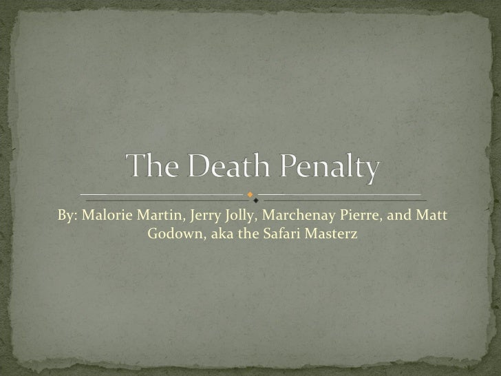 The Death Penalty - PowerPoint PPT Presentation