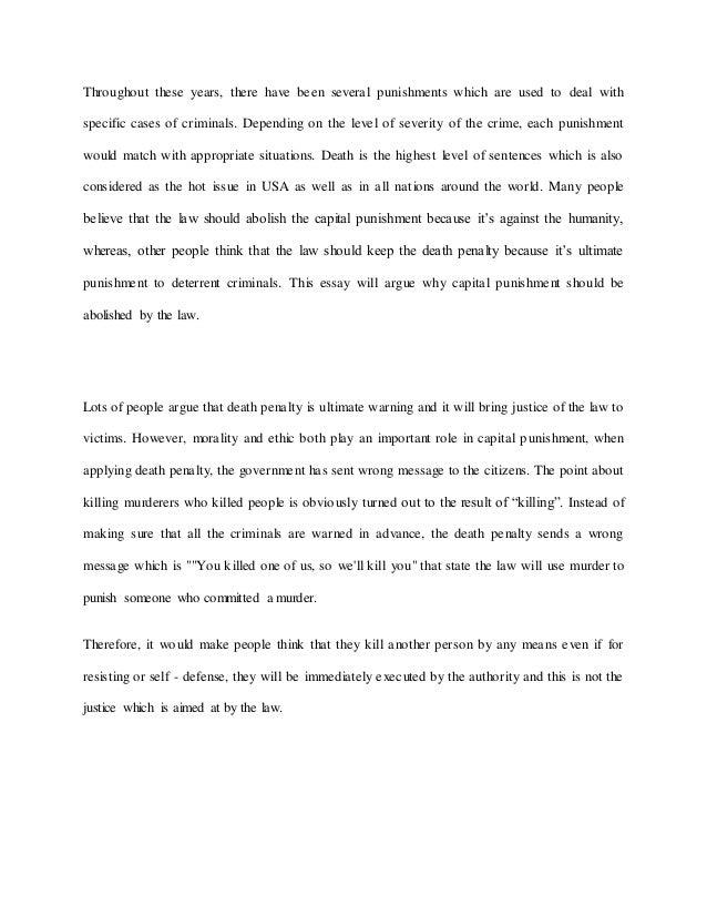 capital punishment essay pdf