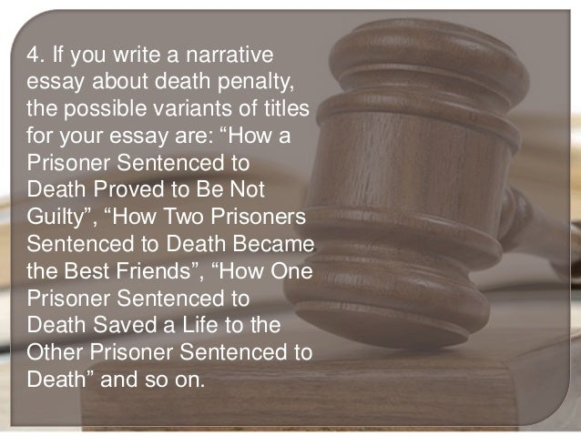Essay death penalty pro good conclusion