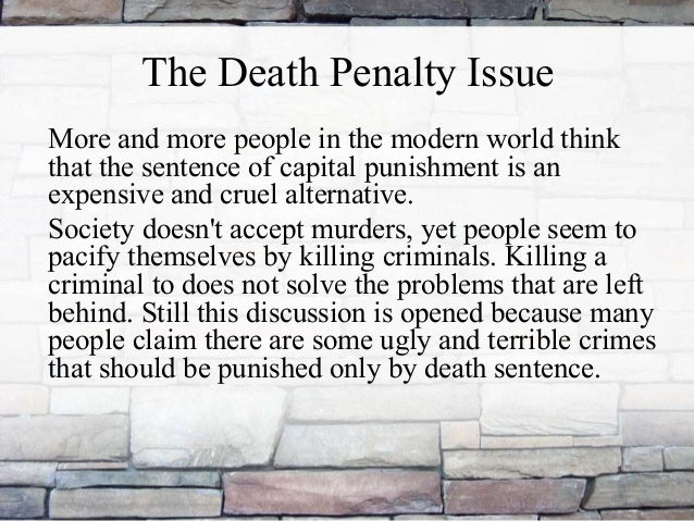 Is The Death Penalty Cruel And Unusual Punishment , Sample of Essays